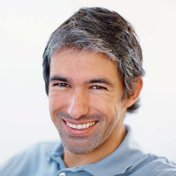 Middle-aged man smiling